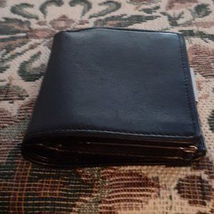 Coach Black Leather Wallet With Coin & Car…